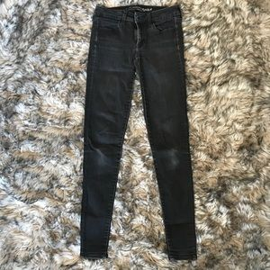 black skinny jeans extra long